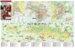 Villány, Siklós és a Villányi borvidék térkép, tűzhető, keretes falitérkép