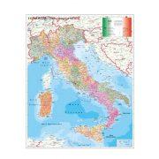Olaszország irányítószámos térképe, tűzhető, keretes