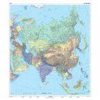 Ázsia politikai térképe, tűzhető, keretes