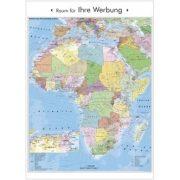 Afrika politikai és irányítószámos térképe, keretezett
