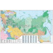 Oroszország és Kelet-Európa irányítószámos térképe, mágnesezhető, fémkerettel