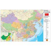 Kína irányítószámos térképe fóliás-fémléces
