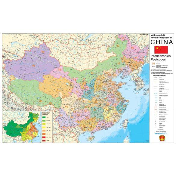 Kína irányítószámos térképe