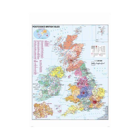 Nagy-Britannia irányítószámos térképe