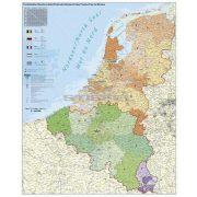 Benelux államok irányítószámos térképe, keretezett