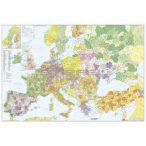 Európa+Törökország postairányítószámos térképe, fémléces