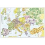 Európa+Törökország postairányítószámos térképe, keretezett