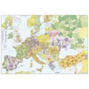 Európa+Törökország postai irányítószámos térképe, keretezett