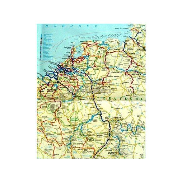 A Duna hajózási térképe, Európa víziúthálózata (keretes)