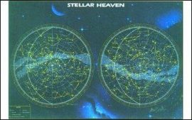 Az északi és a déli félteke csillagképei (angol nyelvű)