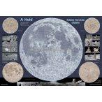 A Hold térképe, kétoldalas fémléces