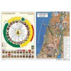 Katolikus egyházi év és Újszövetség térképe / hátoldalon Ószövetség térképe asztali alátét A3 duo