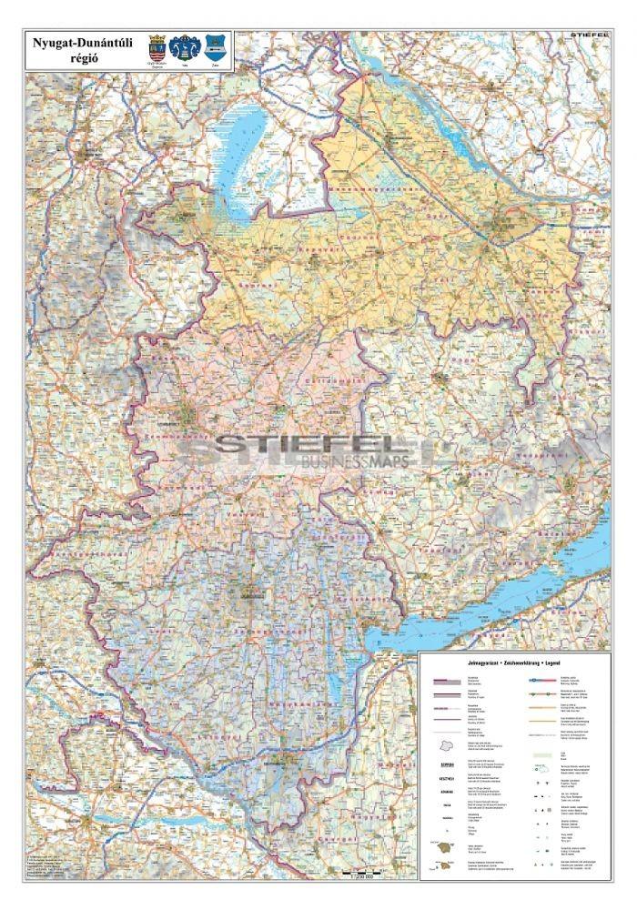 A Nyugat Dunantul Regio Jarasainak Terkepe