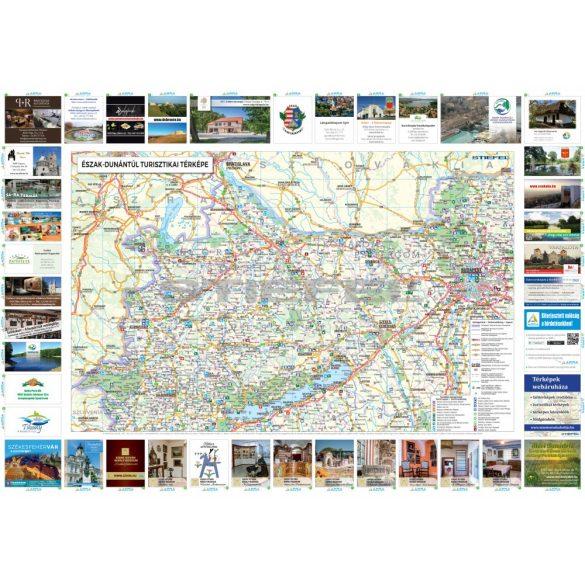 Észak-Dunántúli faléces turisztikai térkép