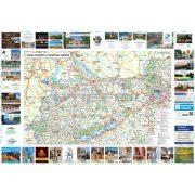 Észak-Dunántúli tűzhető, keretezett turisztikai térkép