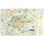 Tisza-tó és térsége turisztikai fémléces térképe