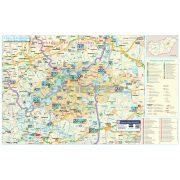 Tisza-tó és térsége turisztikai tűzhető, keretezett térképe