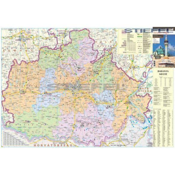 Baranya megye járásai hajtott térkép