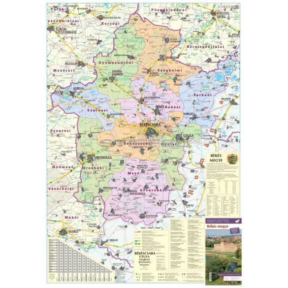 Békés megye fémléces térképe