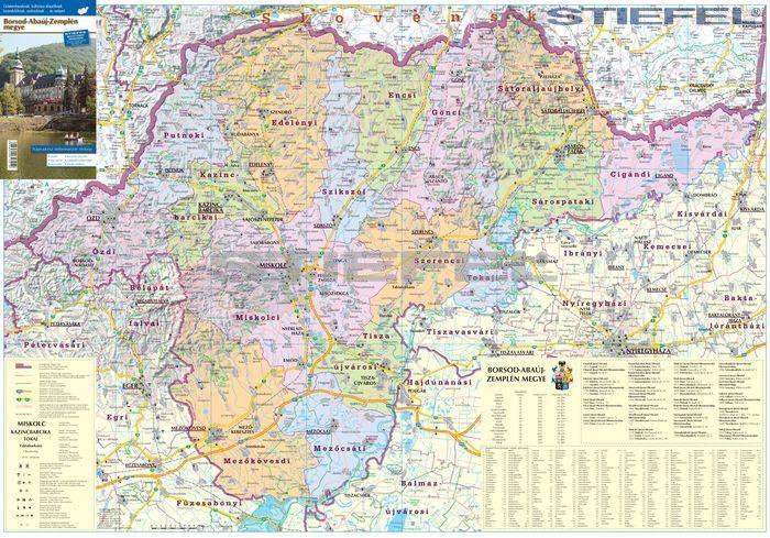 borsod térkép Borsod Abaúj Zemplén megye járásai hajtott térkép borsod térkép