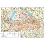 Győr-Moson-Sopron megye térképe mágnesezhető, fémkerettel