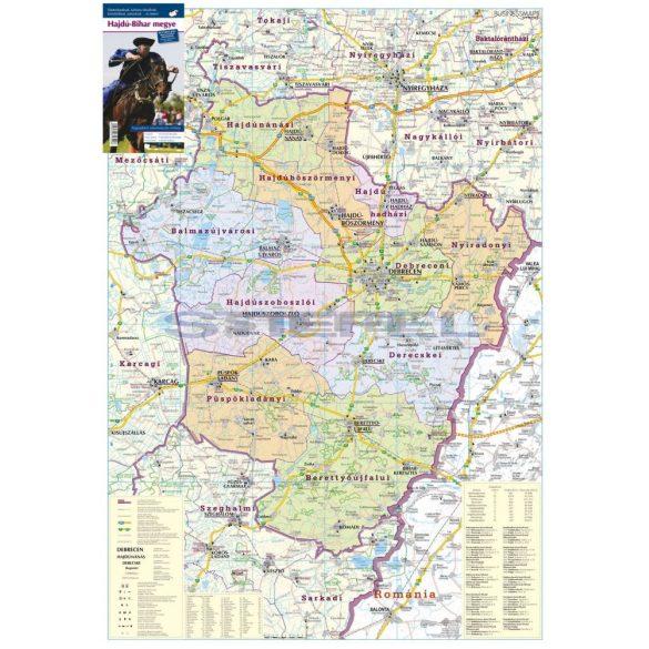 Hajdú-Bihar megye faléces térkép