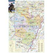 Hajdú-Bihar megye fémléces térkép