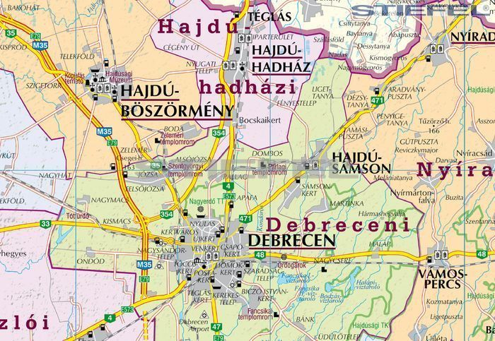 hajdú bihar megye térkép Hajdú Bihar megye járásai hajtott térkép hajdú bihar megye térkép