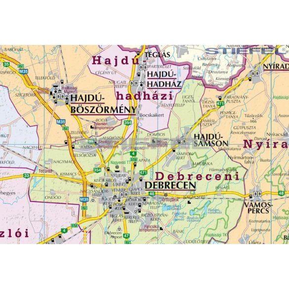 Hajdú-Bihar megye járásai hajtott térkép