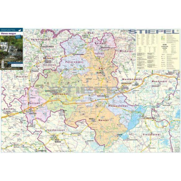 Heves megye járásai hajtott térkép