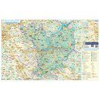 Jász-Nagykun-Szolnok megye térkép fémléces, fóliázott