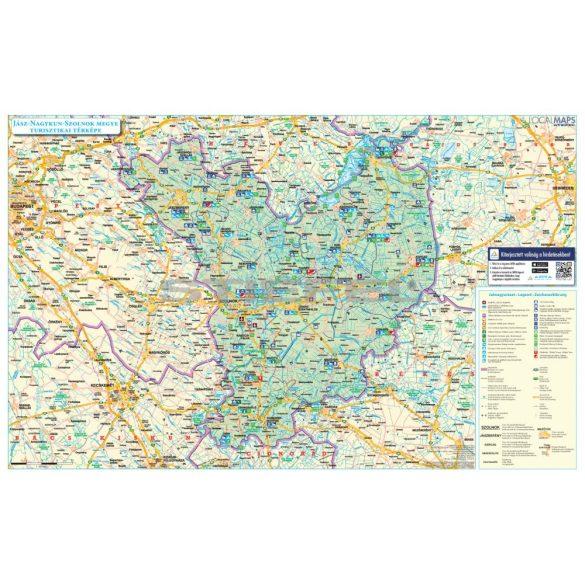 Jász-Nagykun-Szolnok megye tűzhető, keretezett térképe