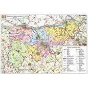 Komárom-Esztergom megye térképe, tűzhető, keretes