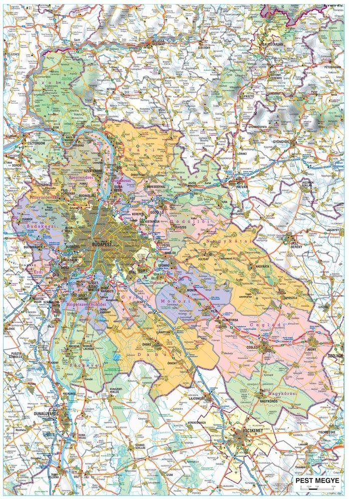 pest megye térkép Pest megye fémléces térkép pest megye térkép