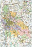 Pest megye fémléces térkép