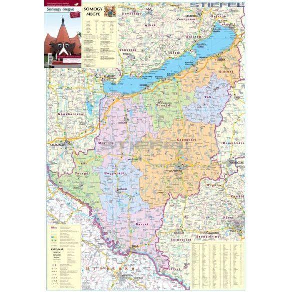 Somogy megye járásai hajtott térkép