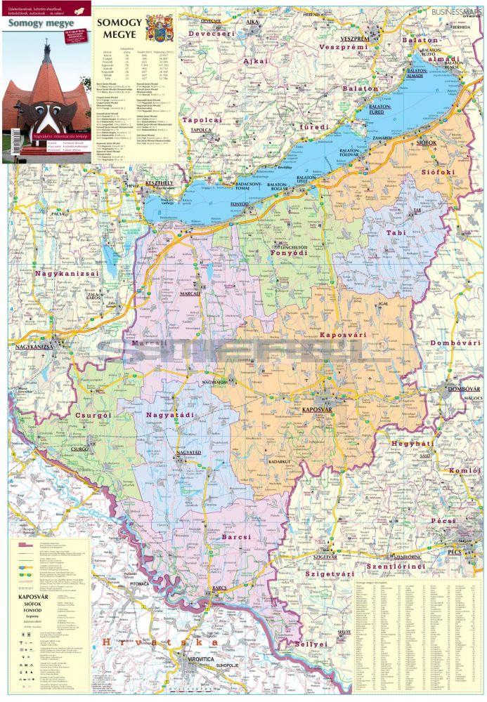 somogy megye térkép részletes Somogy megye térképe, tûzhető, keretes