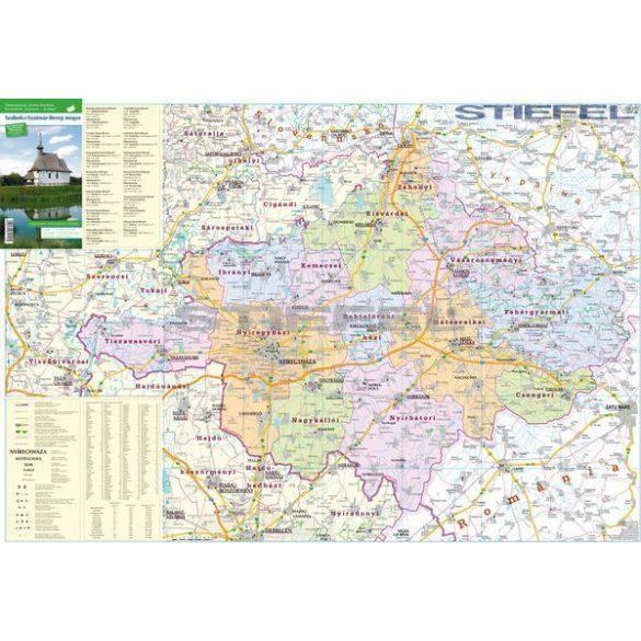 Szabolcs-Szatmár-Bereg járásai hajtogatott térkép