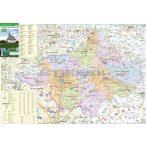 Szabolcs-Szatmár-Bereg megye térképe, tűzhető, keretes
