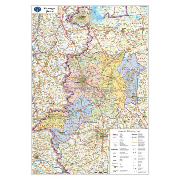 Vas megye fémléces térképe