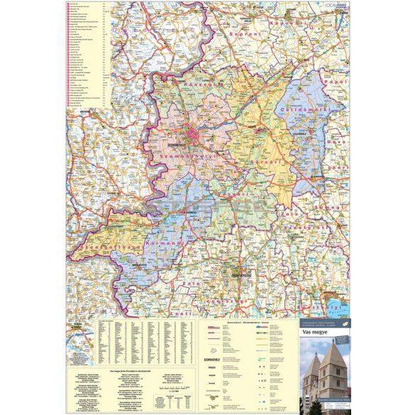 Vas megye járásai hajtogatott térkép