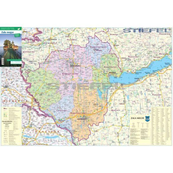 Zala megye járásai hajtott térkép