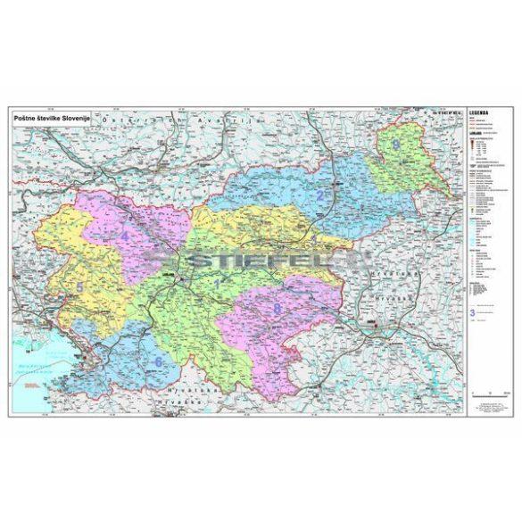 Szlovénia irányítószámos térképe