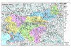 Szlovénia irányítószámos térképe tűzhető, keretes