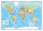 A Föld országai (Stiefel) zászlókkal, fóliás poszter