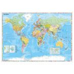 A Föld országai zászlókkal, XXL óriás világtérkép poszter