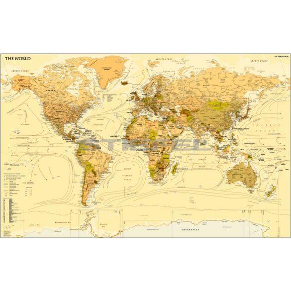 A Föld országai antik stílusú (vintage) világtérkép