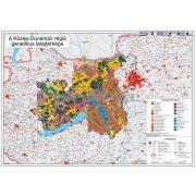 Közép-Dunántúli régió genetikus talajtérképe keretezett