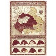 Magyarország ezeréves sorsa fémléces térkép