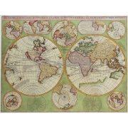 Antik Föld térkép könyöklő